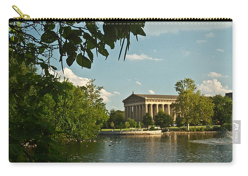 Carry-all Pouch featuring the photograph Parthenon At Nashville Tennessee 2 by Douglas Barnett