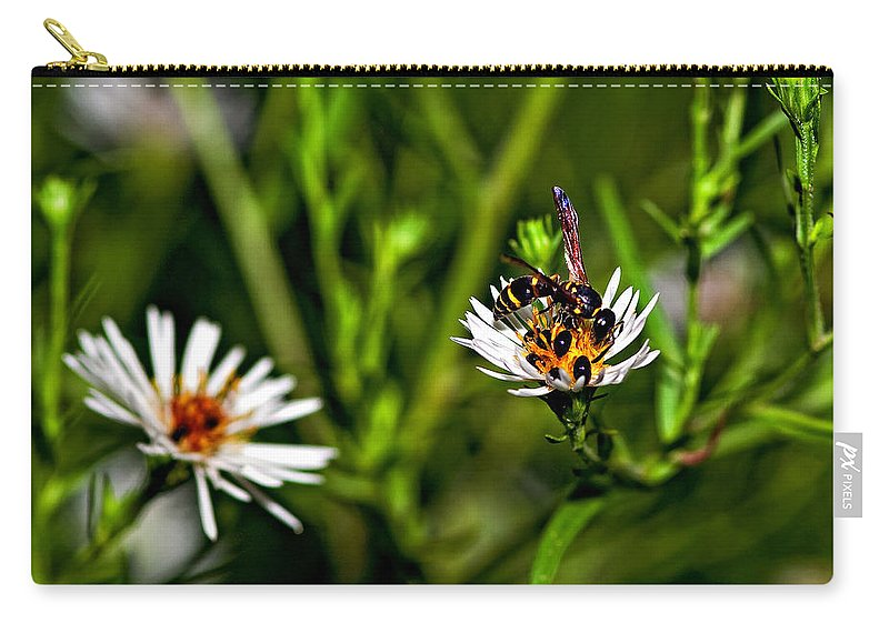 Flower Carry-all Pouch featuring the photograph Party Flower 2 by Steve Harrington
