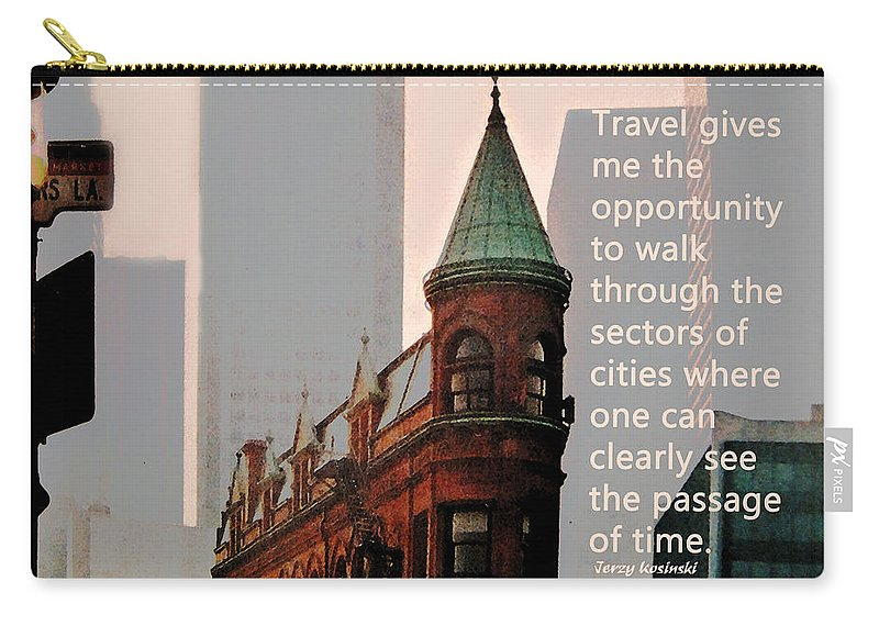 City Carry-all Pouch featuring the photograph Passage Of Time by Ian MacDonald
