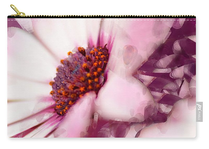 Triptych Carry-all Pouch featuring the photograph Passion Triptych 11 by Betty LaRue