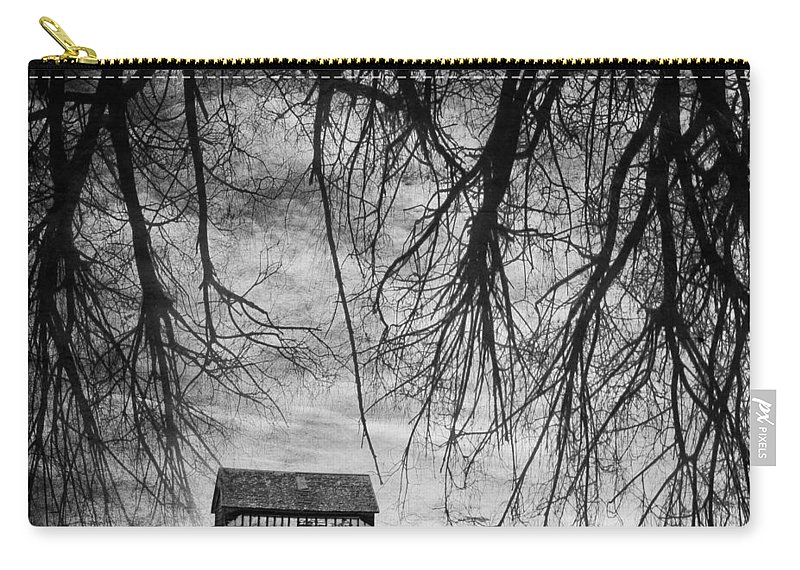 Barn Carry-all Pouch featuring the photograph Past The Woods by The Artist Project