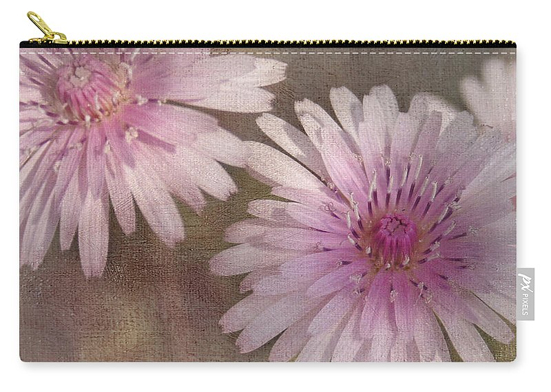 Pink Carry-all Pouch featuring the photograph Pastel Pink Passion by Benanne Stiens