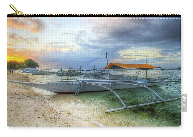 Yhun Suarez Carry-all Pouch featuring the photograph Pastel Sunrise by Yhun Suarez