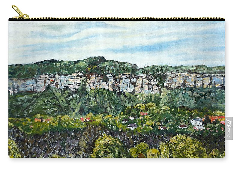 Landscape Carry-all Pouch featuring the painting Pastyrska by Pablo de Choros