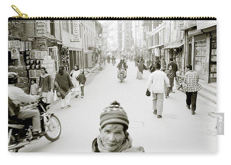 Patan Carry-all Pouch featuring the photograph Patan In Kathmandu by Shaun Higson