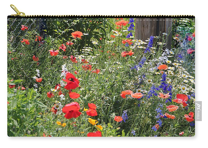Flowers Carry-all Pouch featuring the photograph Patriotic Flowers by Ericamaxine Price