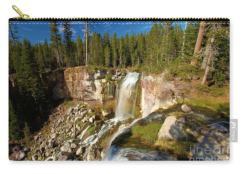 Paulina Falls Carry-all Pouch featuring the photograph Pauina Falls Overlook by Adam Jewell