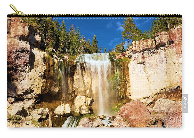 Paulina Falls Carry-all Pouch featuring the photograph Paulina Falling At Newberry by Adam Jewell