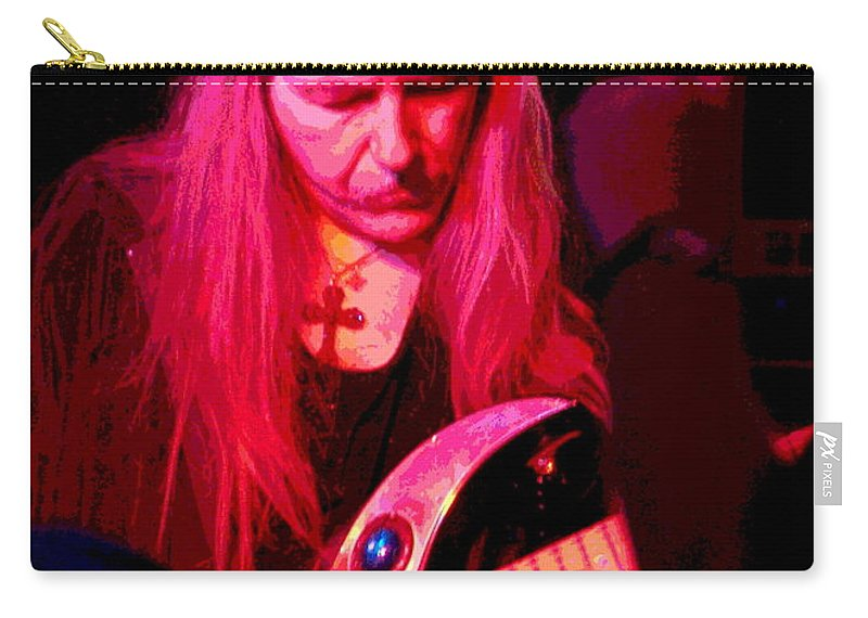 Uli Jon Roth Carry-all Pouch featuring the photograph Peace And Uli Roth by Ben Upham