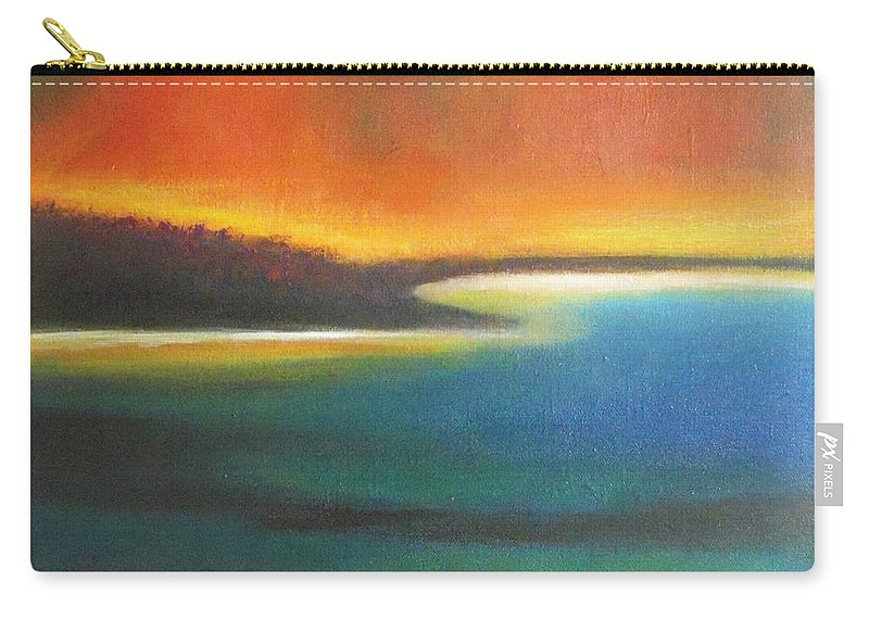 Seascape Carry-all Pouch featuring the painting Aurora by Vesna Antic