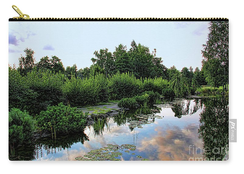 Serenity Carry-all Pouch featuring the photograph Peaceful Garden by Mariola Bitner
