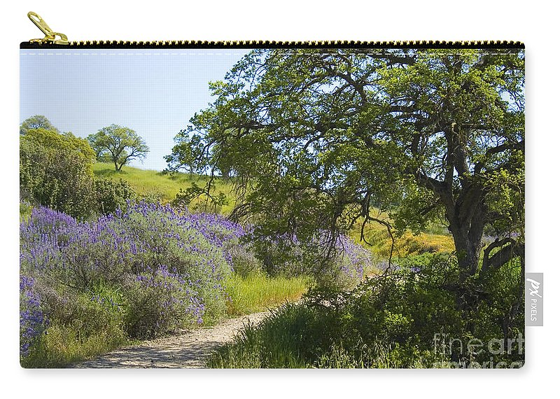 Knights Ferry Carry-all Pouch featuring the photograph Peaceful Path by Jim And Emily Bush