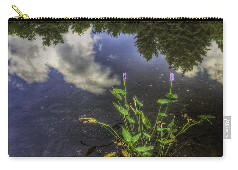 Landscape Carry-all Pouch featuring the photograph Peaceful Pond by Fran Gallogly