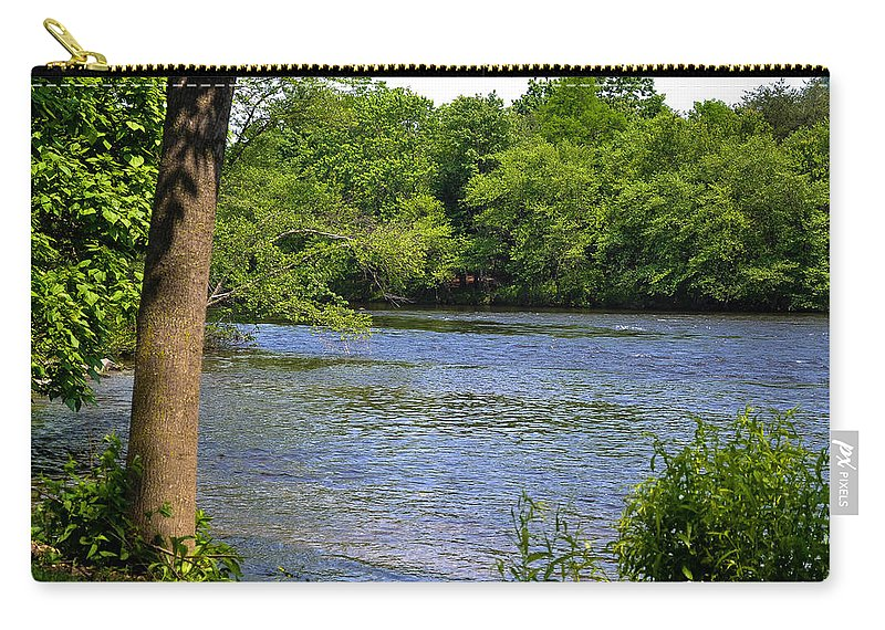 River Carry-all Pouch featuring the photograph Peaceful River by Wanda J King