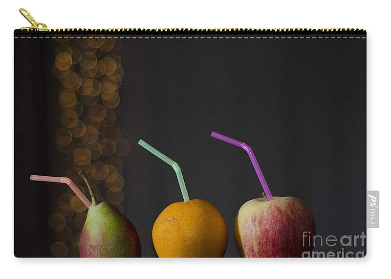 Orange Carry-all Pouch featuring the photograph Pear And Apple And Orange by Mats Silvan