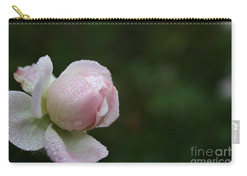 Flower Carry-all Pouch featuring the photograph Pearlized by Susan Herber
