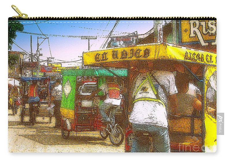 Carry-all Pouch featuring the photograph Pedal Traffic by Lydia Holly