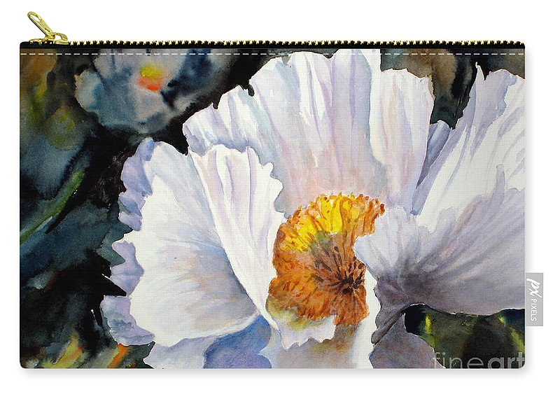 Carry-all Pouch featuring the painting Peek A Boo by Mohamed Hirji