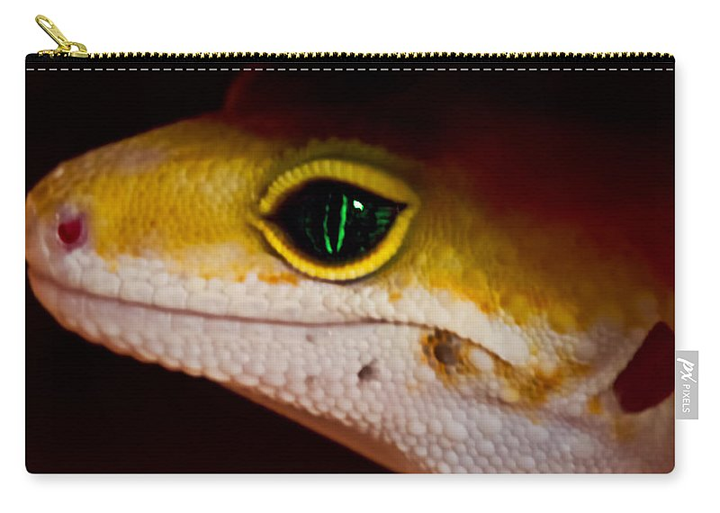 Macro Carry-all Pouch featuring the photograph Peeping Mike by Linda Tiepelman