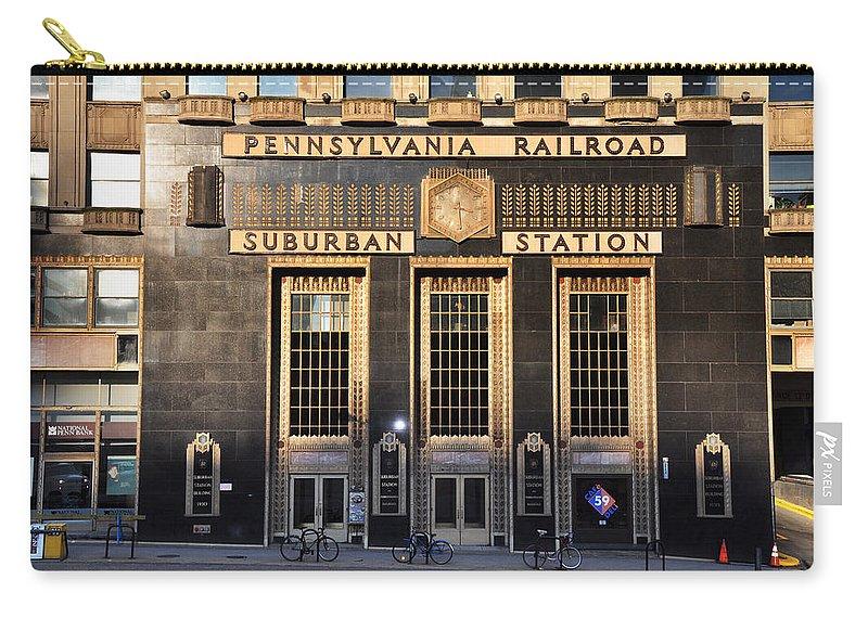 Pennsylvania Railroad Suburban Station Carry-all Pouch featuring the photograph Pennsylvania Railroad Suburban Station by Bill Cannon