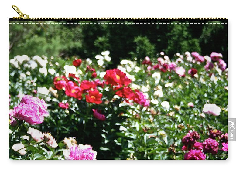 Flowers Carry-all Pouch featuring the photograph Peonies by Susan Herber