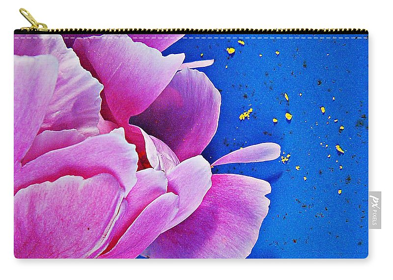 Nature Carry-all Pouch featuring the photograph Peony Dust by Chris Berry