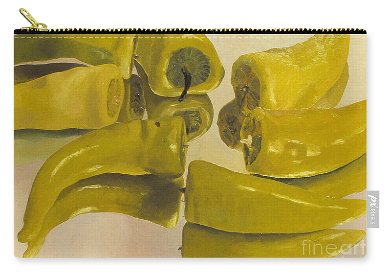Oil Carry-all Pouch featuring the painting Peppers by Robert Bowden