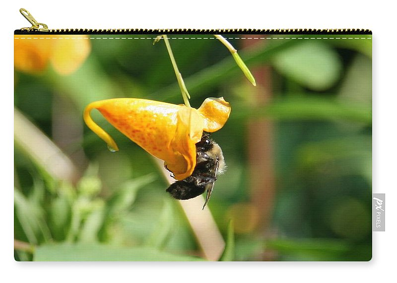 Bee Carry-all Pouch featuring the photograph Perfect Fit by Neal Eslinger