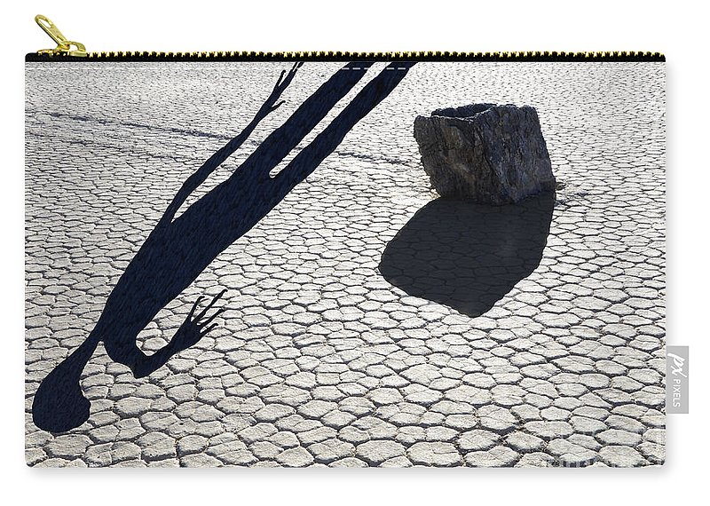 The Racetrack Carry-all Pouch featuring the photograph Perhaps A Solution Is In Sight by Bob Christopher