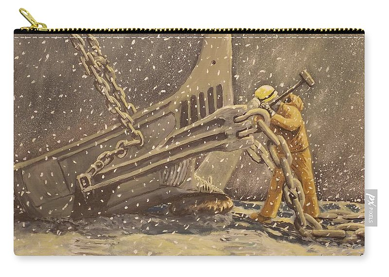Worker Carry-all Pouch featuring the painting Perseverance by Carey MacDonald