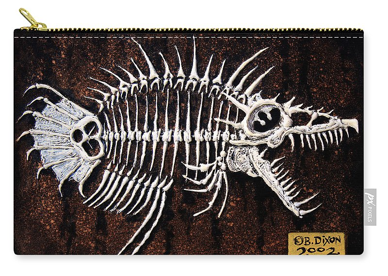 Fish Carry-all Pouch featuring the painting Pescado Dos by Baron Dixon