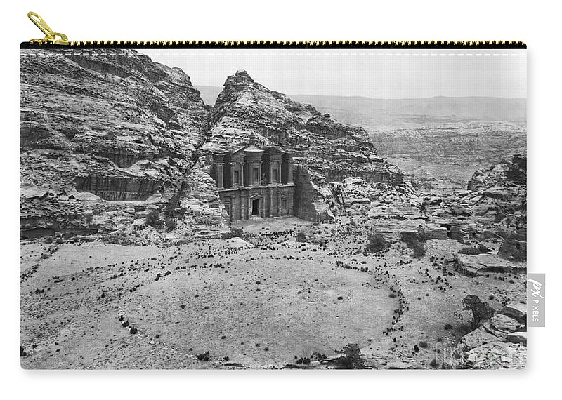Historic Carry-all Pouch featuring the photograph Petra, Jordan by Photo Researchers