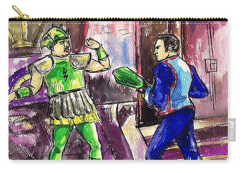 Nostalgia Carry-all Pouch featuring the drawing Phantom Empire by Mel Thompson