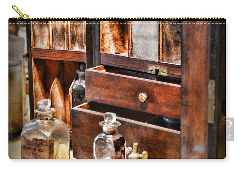 Paul Ward Carry-all Pouch featuring the photograph Pharmacy - Medicine Cabinet by Paul Ward