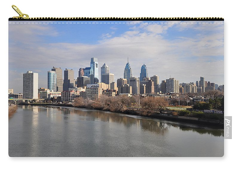 Philadelphia Carry-all Pouch featuring the photograph Philadelphia Cityscape by Bill Cannon