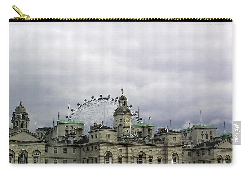 London Carry-all Pouch featuring the photograph Photo Of London With London Eye In The Background by Ashish Agarwal