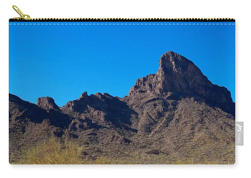 Arizona Carry-all Pouch featuring the photograph Picacho Peak - Arizona by Glenn McCarthy Art and Photography