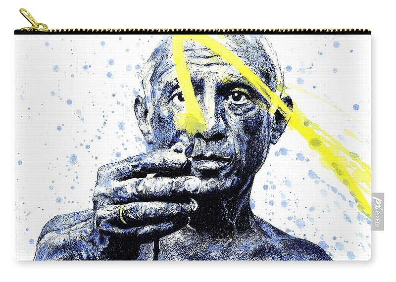 Pablo Picasso Carry-all Pouch featuring the painting Picasso by Chris Mackie
