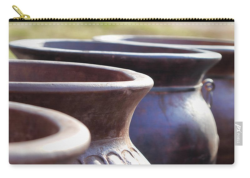 Mexican Carry-all Pouch featuring the photograph Pick A Pot by Kathy Clark