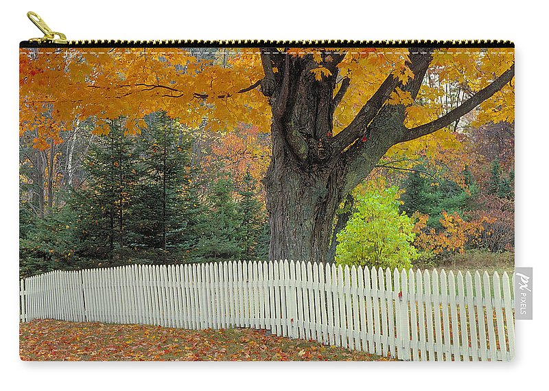 Picket Fence Carry-all Pouch featuring the photograph Picket Fence by Garry McMichael