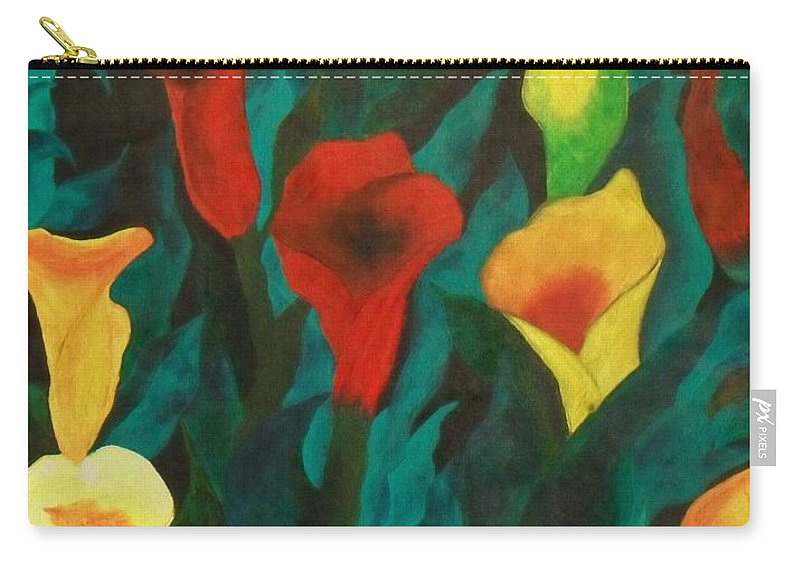 Flowers Carry-all Pouch featuring the painting Picture Of Lily's by Paul F Labarbera