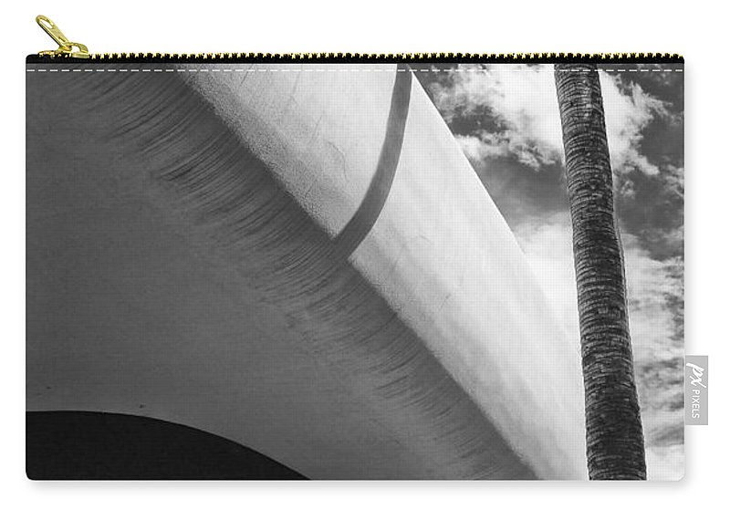 Bank Carry-all Pouch featuring the photograph Piece Of The Sky Bw by William Dey