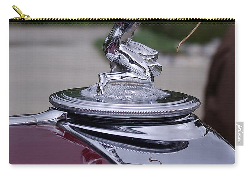 Pierce Arrow Carry-all Pouch featuring the photograph Pierce Arrow Hood Ornament by Jim And Emily Bush