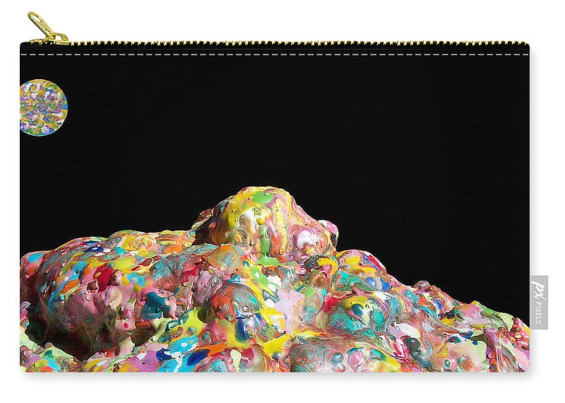 Original Carry-all Pouch featuring the photograph Pile Of Encaustic Color With A Wax Moon Two K O Four by Carl Deaville