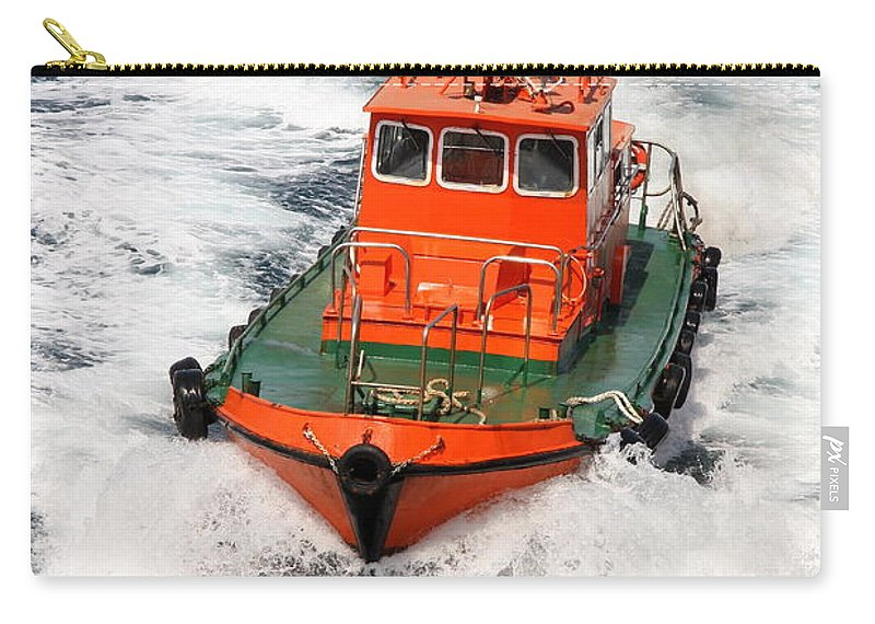 Pilot Boat Carry-all Pouch featuring the photograph Pilot Boat - Dardanelles-canakkale by Christiane Schulze Art And Photography