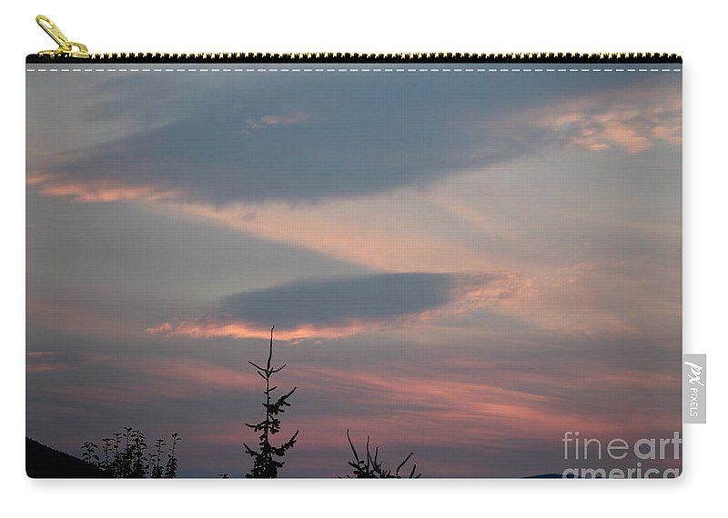 Clouds Carry-all Pouch featuring the photograph Pink And Blue by Leone Lund
