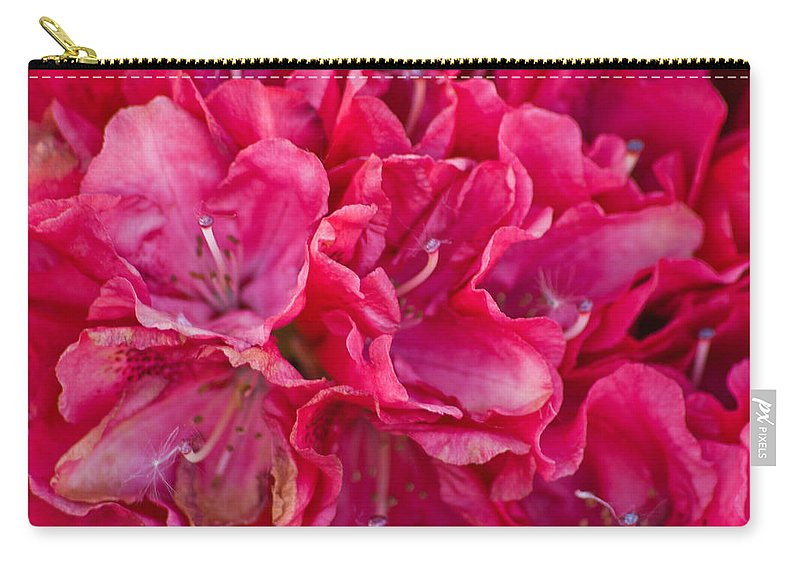 Pink Azalea Carry-all Pouch featuring the photograph Pink Azalea by Steve Purnell