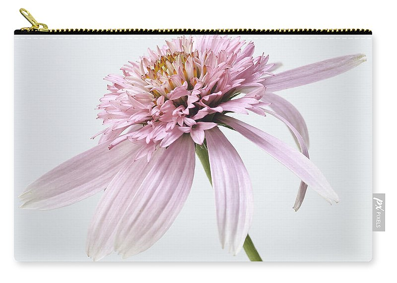 Flower Carry-all Pouch featuring the photograph Pink Cone Flower by Fran Gallogly
