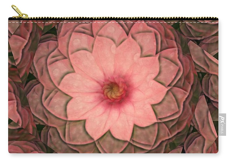 Pink Carry-all Pouch featuring the digital art Pink Delight by Rhonda Barrett