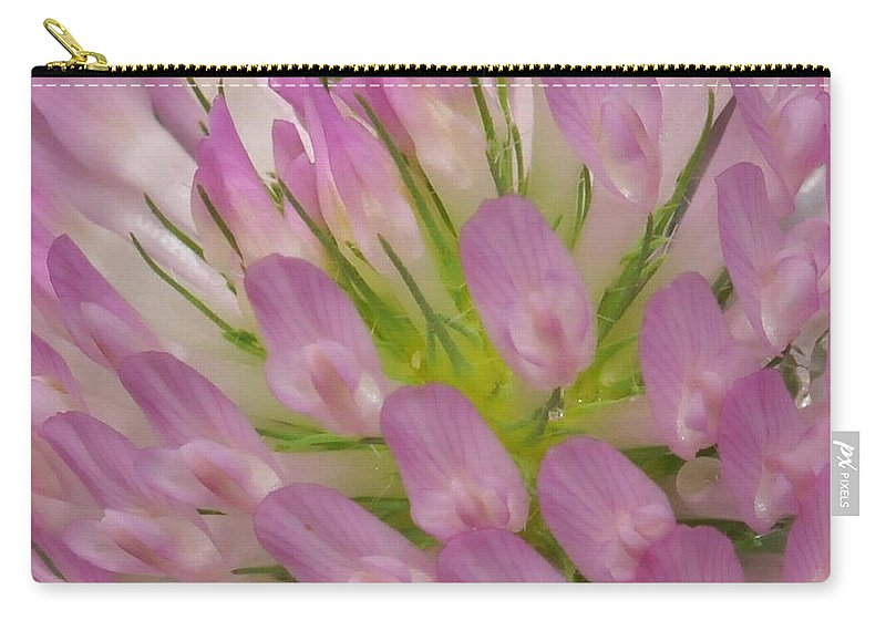 Thistle Carry-all Pouch featuring the photograph Pink Flower by Paul Ward